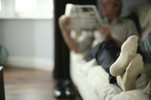 Zuhause kann man die Socken ruhig ausziehen